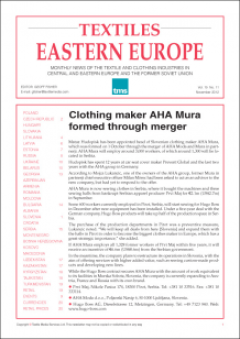 Textiles Eastern Europe cover